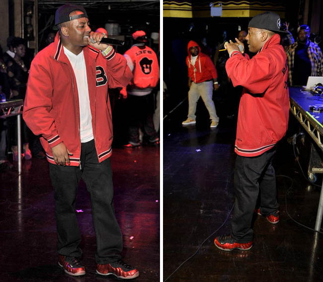 Cassidy Wearing Nike Air Foamposite One Metallic Red On Feet 10651d519