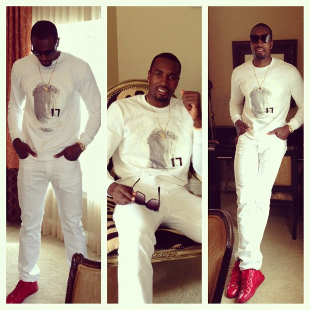 Serge Ibaka Wearing Givenchy Virgin Mary Sweatshirt