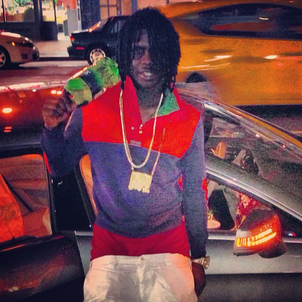 Chief Keef Wearing Polo Ralph Lauren Indian Patch Orange