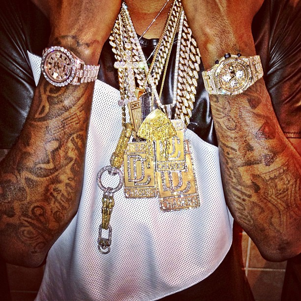 Gucci Link Chain >> Meek Mill Iced Out Rose Gold Rolex Day Date II & Miami ...