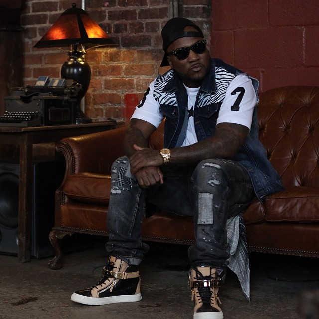 Young Jeezy Wearing Giuseppe Zanotti Cracked Leather High