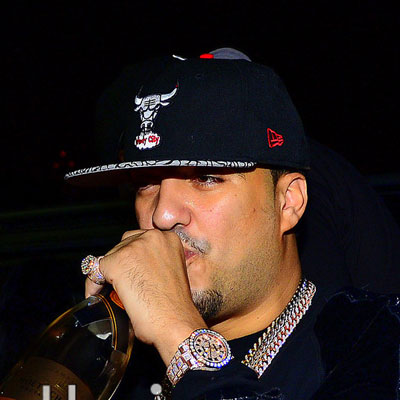 french montana iced out rose gold rolex datejust 2 watch