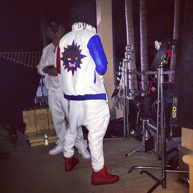chief-keef-glo-gang-yekim-jacket-red-giuseppe-zanotti-sneakers-5